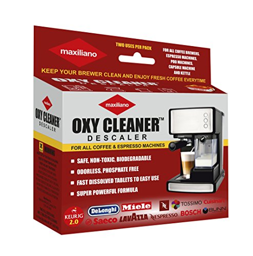 Maxiliano Descaling For All Coffee Brewers Quick Tablets